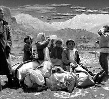 KURDISH CHILDREN AND OLD MAN by kfbphoto