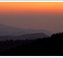 Sunset Clingmans Dome GSMNP by ThomasRBiggs