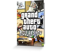 Regular Show GTA Greeting Card