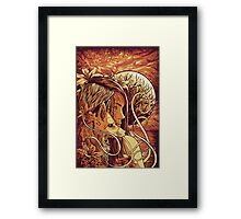 orange fox Framed Print