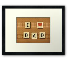 Fathers day tiles Framed Print