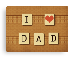Fathers day tiles Canvas Print