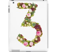 The number Three Part of a set of letters, Numbers and symbols iPad Case/Skin