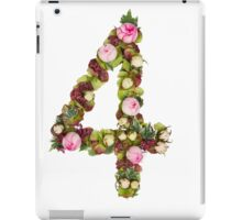 The number four Part of a set of letters, Numbers and symbols iPad Case/Skin