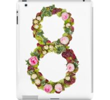 The number Eight Part of a set of letters, Numbers and symbols of the Alphabet made with flowers iPad Case/Skin