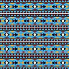 Navajo Blue Pattern by Christina Rollo