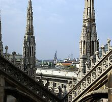 Look of the Milan cathedral  by fuxart