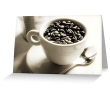 Fresh Coffee Beans Greeting Card