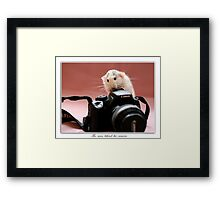 The man behind the camera. Framed Print
