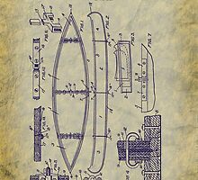 1929 Canoe Construction Patent Art by Barry  Jones