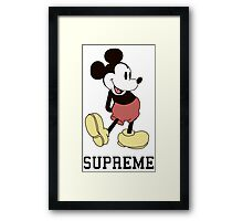 Classic Supreme Mickey Mouse Framed Print