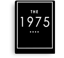 The 1975 - White Transparent Logo Canvas Print