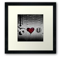 Eye Heart You Framed Print