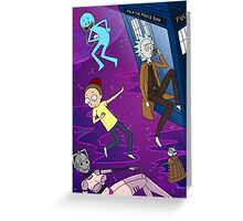 Rick and Morty - Doctor Who Mash Up!  Greeting Card
