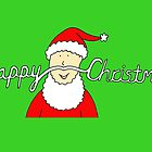 Happy Christmas Hipster Santa Moustache by KateTaylor