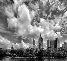 Melbourne By The Yarra by Paul Louis Villani