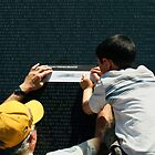 The Vietnam Wall III by Mart Delvalle