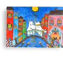 Moomin Love in Venice Canvas Print