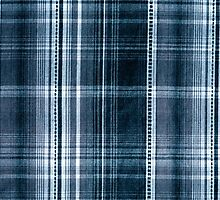 Navy blue checked cotton cloth  by Arletta Cwalina