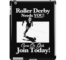 Roller Derby Recruiter iPad Case/Skin