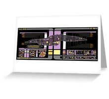 Intrepid Class USS Voyager Highly Detailed Schematic Greeting Card