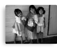 Happy Thai Children Canvas Print