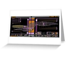 Galaxy Class USS Enterprise Highly Detailed Schematic Greeting Card