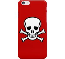 Pirate Skull with crossbones. Lethal danger and poison. iPhone Case/Skin