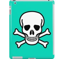Pirate Skull with crossbones. Lethal danger and poison. iPad Case/Skin