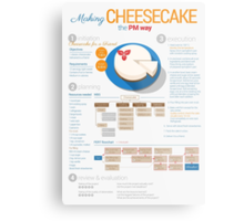 Project manager makes a cheesecake! Vertical poster Metal Print