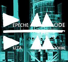 Depeche Mode : Delta Machine Paint cover - Invert - water tower 2 by Luc Lambert