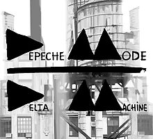 Depeche Mode : Delta Machine Paint cover - B&W- water tower 2 by Luc Lambert