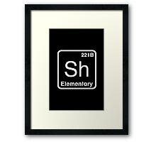 The Atomic Symbol for Detection  Framed Print