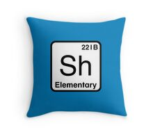 The Atomic Symbol for Detection  Throw Pillow