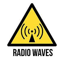 Radio waves hazard sign. Danger. Caution symbol. by 2monthsoff