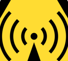 Radio waves hazard sign. Danger. Caution symbol. Sticker