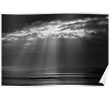 SUNBEAMS OVER THE SEA Poster