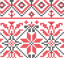 Red and Black Knitting Pattern 3 Sticker