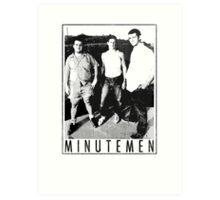 Minutemen - Light Shirts/Totes/Stickers/Pillows! Art Print