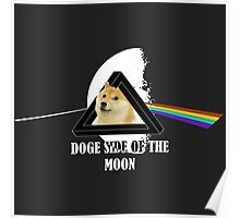 Doge side of the moon - Such WOW - (for dark background) Poster