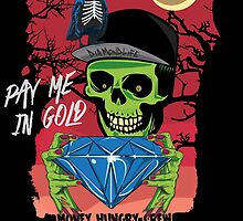 Paid In Gold Skull by shanin666