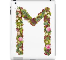 Capital Letter M Part of a set of letters, Numbers and symbols iPad Case/Skin