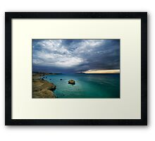 sunrise and turquoise water Framed Print