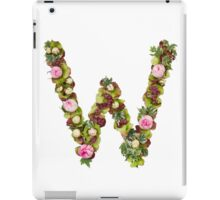 Capital Letter W Part of a set of letters, Numbers and symbols  iPad Case/Skin
