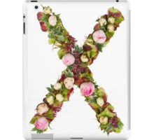 Capital Letter X Part of a set of letters, Numbers and symbols iPad Case/Skin