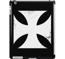 Iron cross in white. iPad Case/Skin