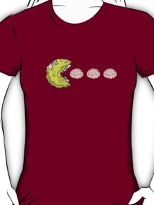 Zombie Pac Man Eating Brains Mash Up T-Shirt