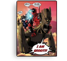 Deadpool and The Guardians of the Galaxy Canvas Print