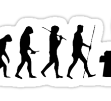 the real human evolution Sticker