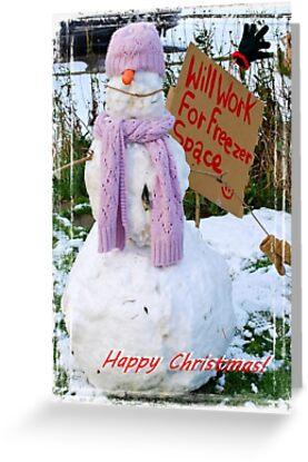 Alex's Snow Person! by oulgundog